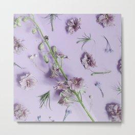 Light Purple Flowers Metal Print