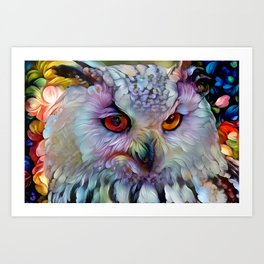Ethereal Owl Art Print
