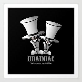 Brainiac (White) Art Print