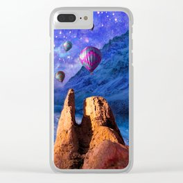 Mountain Tops Misty And Blue, A Light In Search Of Something New Clear iPhone Case