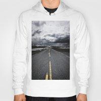 road Hoodies featuring Road by Nick Verschoor