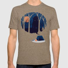 Scary story Mens Fitted Tee LARGE Tri-Coffee