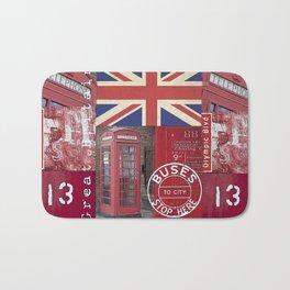 Great Britain London Union Jack England Bath Mat
