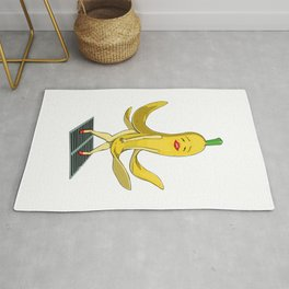 Banana Monroe Funny Yellow Ripen Fruit Rug