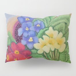 Pots of Polyanthus Pillow Sham