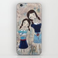 sisters iPhone & iPod Skins featuring Sisters by Allison Weeks Thomas