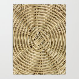 Rattan wickerwork texture Poster