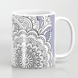 zen-tangle composition with mandalas and flowers Coffee Mug