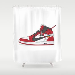 Fanmade Off White x Jordan 1 Homage Shower Curtain