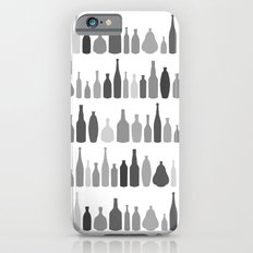 Bottles Black and White on White Slim Case iPhone 6s