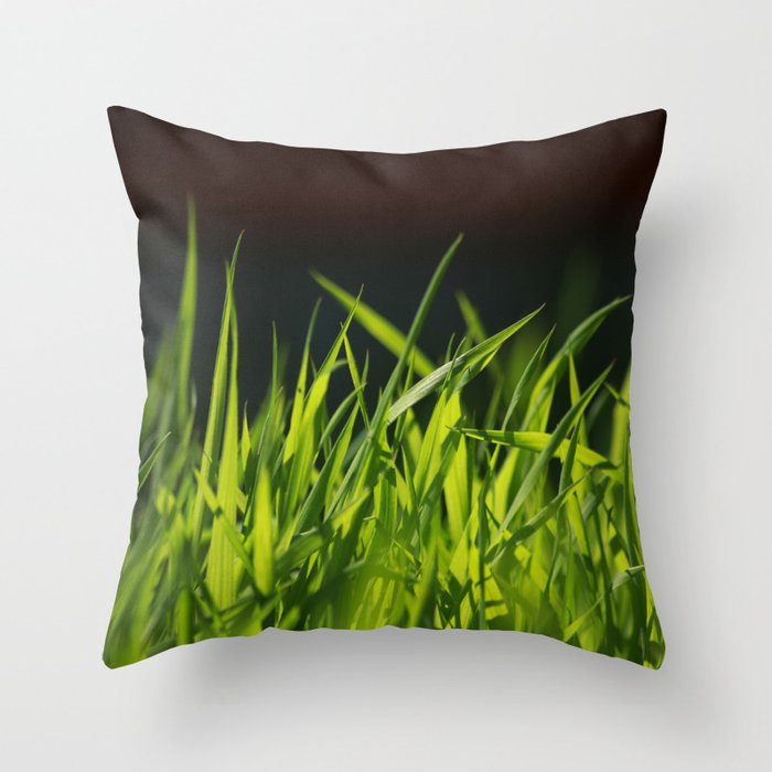 Grass is greener where you water it Throw Pillow