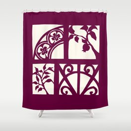 pomegranates and wrought iron Shower Curtain