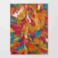 psychedelic Canvas Prints featuring Psychedelic by DuckyB