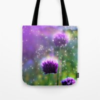 "clover Tote Bags featuring ""Clover"" by Moon Willow"