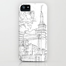 Melbourne AU LDS Temple Sketch iPhone Case
