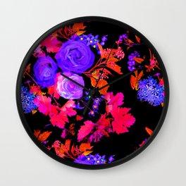 Rose Bloom 3 Wall Clock