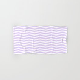 Chalky Pale Lilac Pastel and White Chevron Stripes Hand & Bath Towel