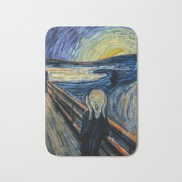 Scream on a Starry Night Bath Mat