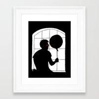 daredevil Framed Art Prints featuring Daredevil by Boring Palace