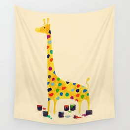 Paint by number giraffe Wall Tapestry