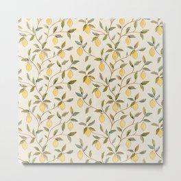 William Morris Vintage Lemon Tree Pattern Metal Print