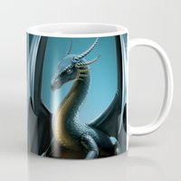 dragon Mugs featuring dragon by Antracit