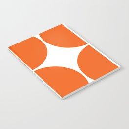 Mid Century Modern Orange Square Notebook