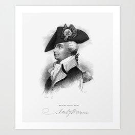 General Anthony Wayne -- American Revolution Art Print