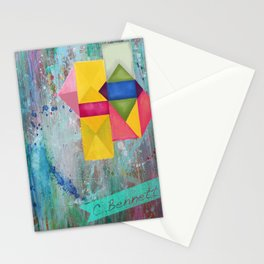 geometric dreams Stationery Cards