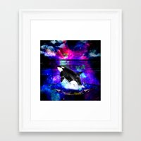 orca Framed Art Prints featuring Orca by haroulita