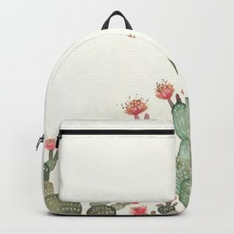 Prickly Pear Cactus Succulent Backpack