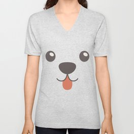 Dog Emoji Bernese Mountain Dog Unisex V-Neck