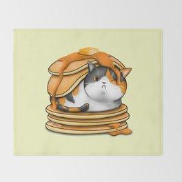 Kitty Pancakes Throw Blanket