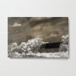 Surreal Barn Farmhouse Nature Landscape Metal Print