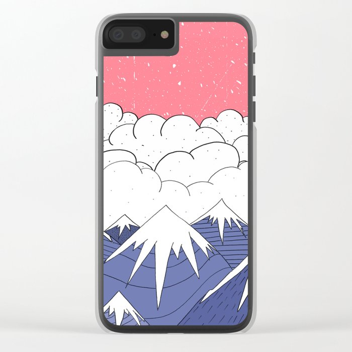 The mountains and the clouds Clear iPhone Case