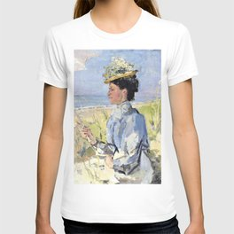Isaac Lazarus Israels - At The Beach - Portrait Of Martha Salomon - Digital Remastered Edition T-shirt