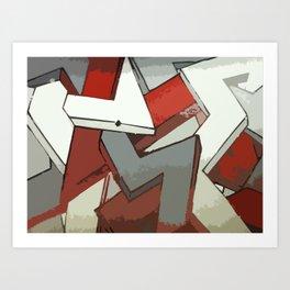 Grip Art Print
