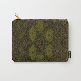 Mustard and Earth Pattern Carry-All Pouch