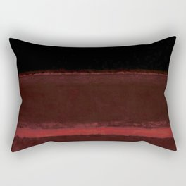 1958 Four Darks on Red by Mark Rothko Rectangular Pillow