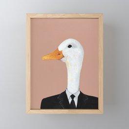 Duck In Suit Framed Mini Art Print