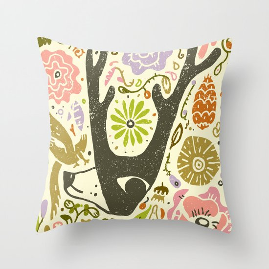 Elking Elk Throw Pillow