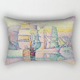 Paul Signac - Antibes  The Brigantines Rectangular Pillow
