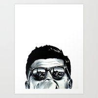 jfk Art Prints featuring JFK by beeisforbear