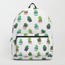 Cacti Abound Watercolor Graphic Print Backpack