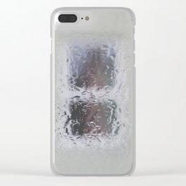 Windows in rain Clear iPhone Case