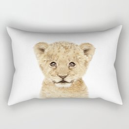 Baby Lion Cub Portrait Rectangular Pillow