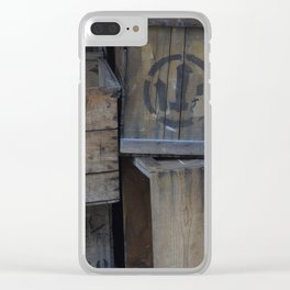 Vintage Wooden Wabi-Sabi Japanese Shipping Crates Clear iPhone Case