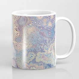 Blue Turquoise Marble texture Coffee Mug