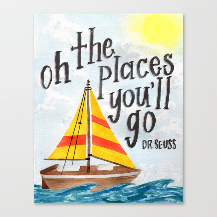 Oh the Places You'll Go - Dr. Seuss Canvas Print