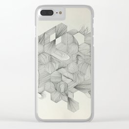 Embrace your randomness Clear iPhone Case